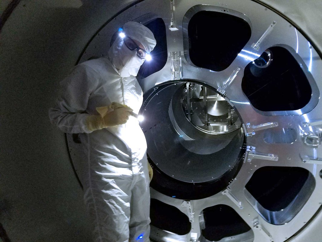 Engineers working on LIGO upgrades