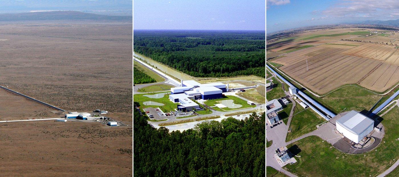 LIGO Hanford, LIGO Livingston and Virgo.