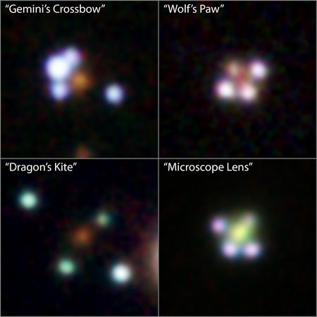 A picture of four of the quasar quads.