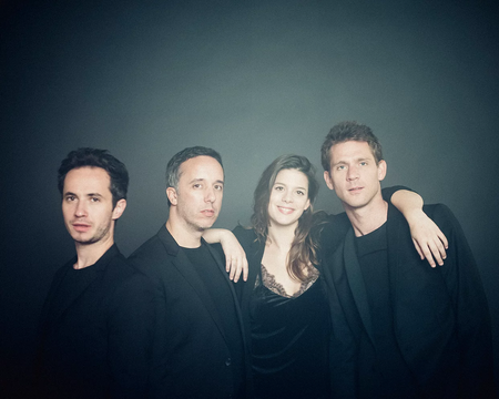 group photo of the chamber music group Quatuor Ébène