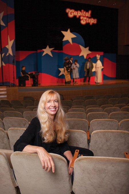 Elaina Newport in auditorium seats