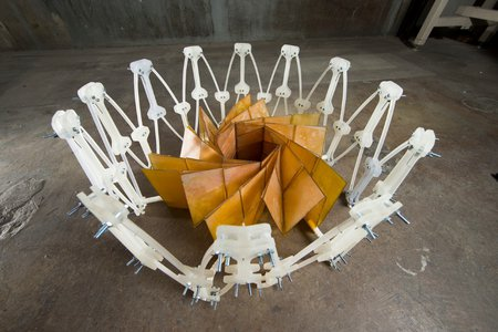 """collapsible """"origami"""" solar panel"""