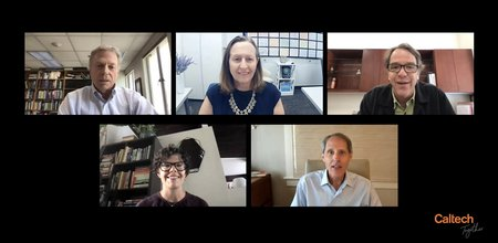 Caltech town hall speakers on zoom