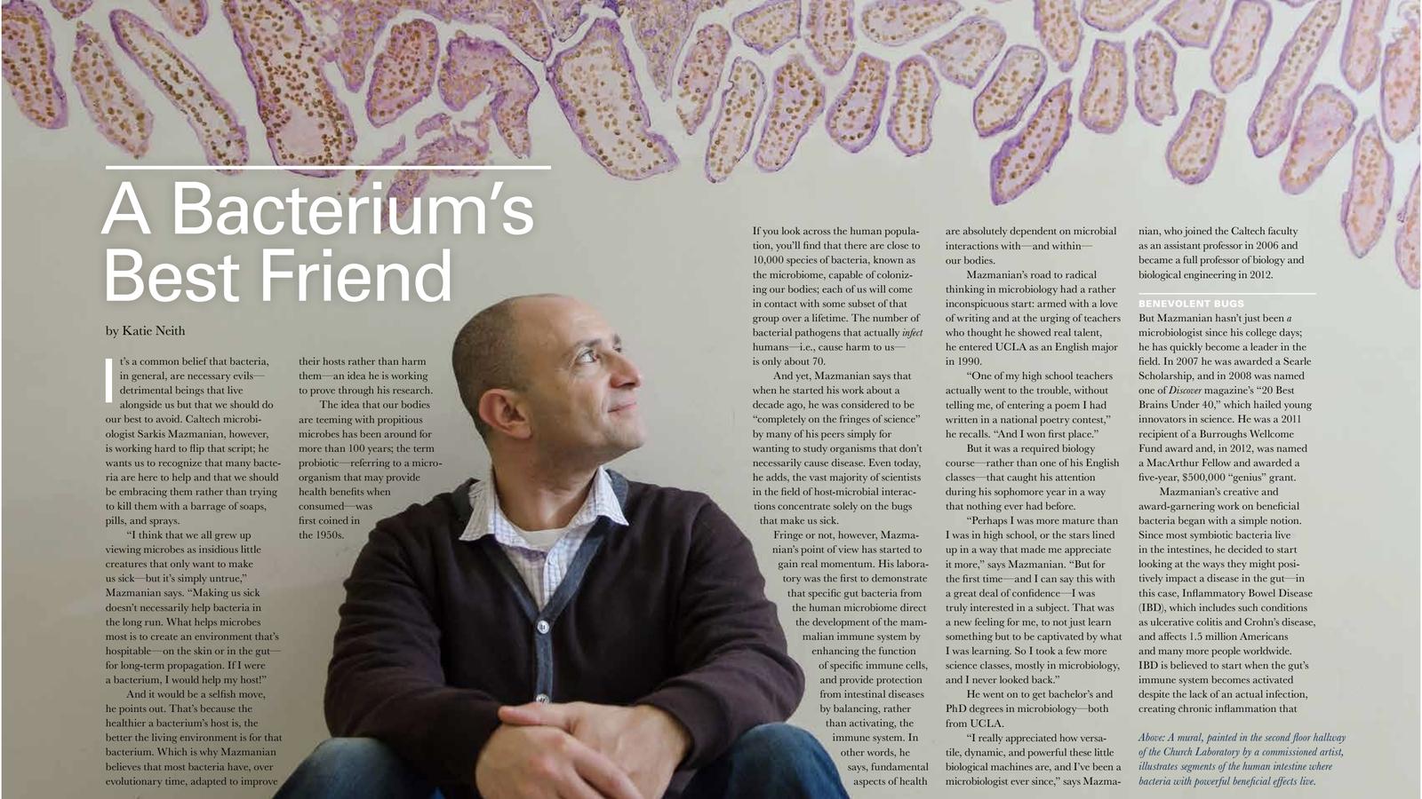 A Bacterium's Best Friend - Sarkis Mazmanian