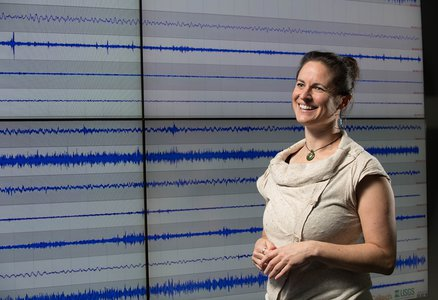 Jennifer Andrews at the Caltech Seismological Laboratory