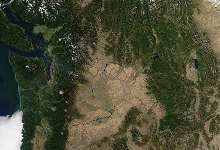Aerial view of Cascadia