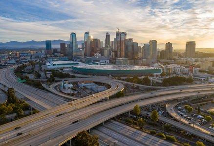 Los Angeles freeways and buildings