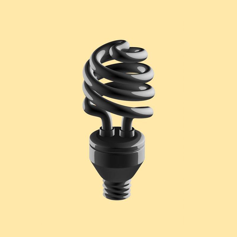 Illustration of a fluorescent light bulb