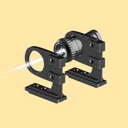 Illustration of a laser shining through a lens