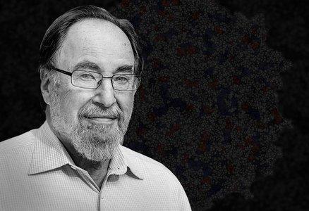 Black and white portrait of David Baltimore