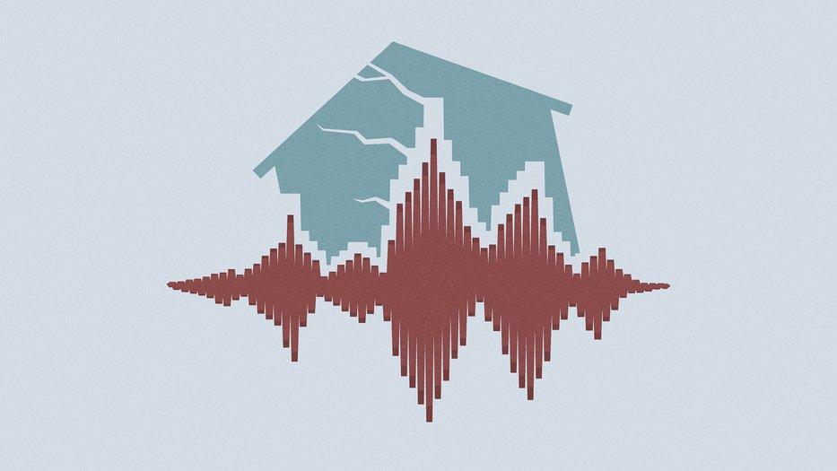 an earthquake affects a house