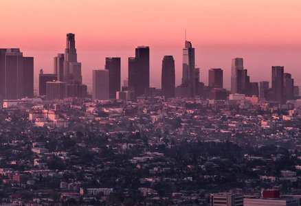 Sunset on downtown Los Angeles