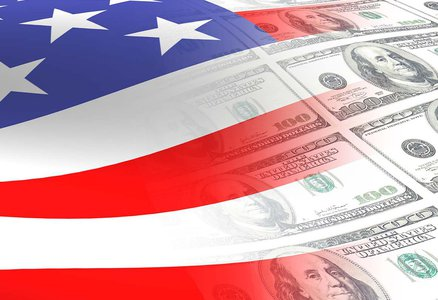 A flag blending into money