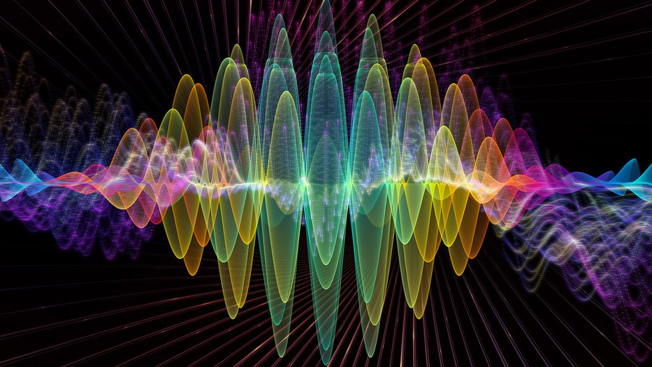 Abstract multicolor wavelength illustration