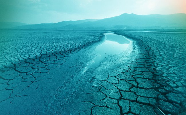 a drought due to climate change
