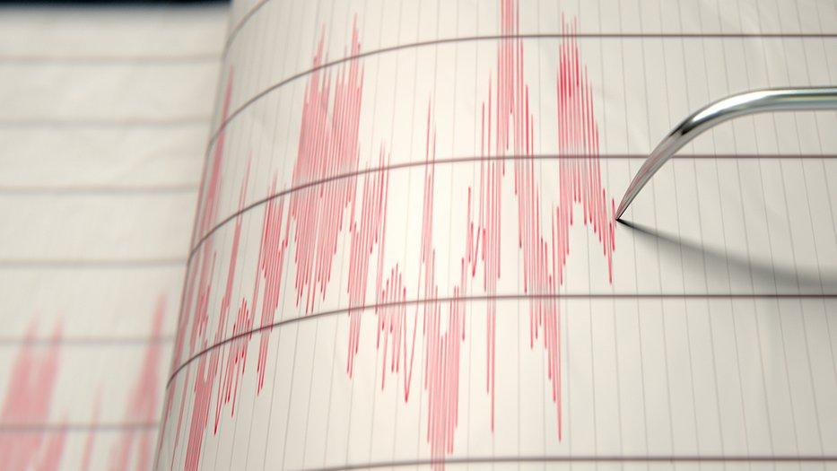 A seismograph measures an earthquake