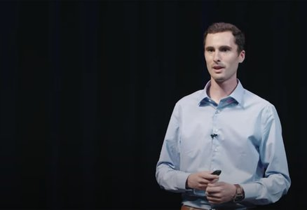 Jake Evans giving a Science Journey lecture