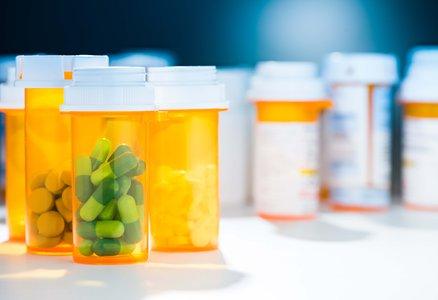 orange see-through pill bottles