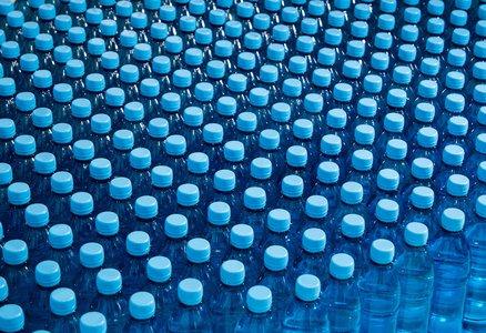 Plastic water bottle production