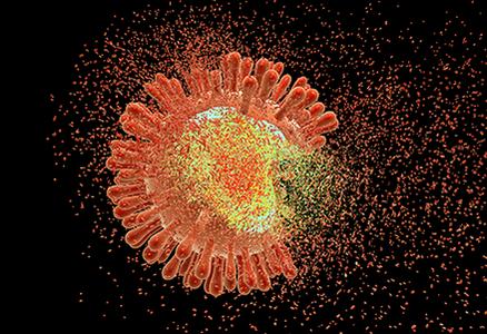 HIV artistic rendering
