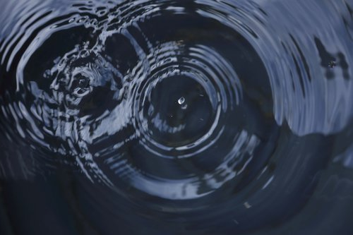 two water ripples overlapping