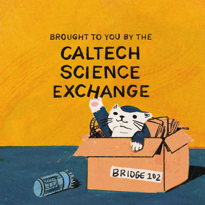 """Brought to you by the Caltech Science Exchange with a cat batting at the """"H"""" in Exchange"""
