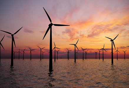 windmills in the ocean
