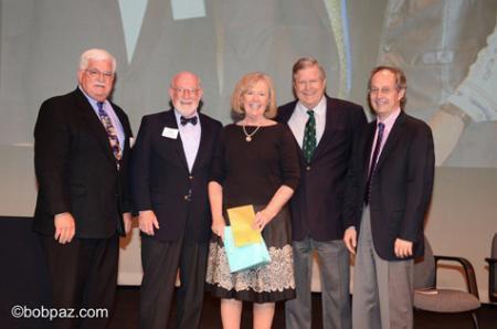 photo of Barbara Green with Caltech dignitaries