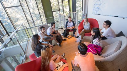Group discussion in Annenberg.