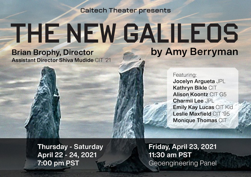 cropped flyer for The New Galileos