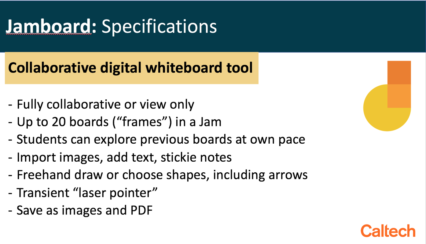 google jamboard specifications
