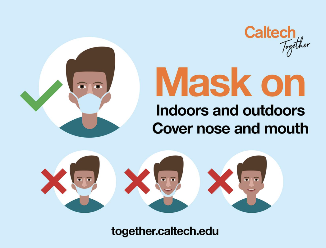 image of poster encouraging face covering