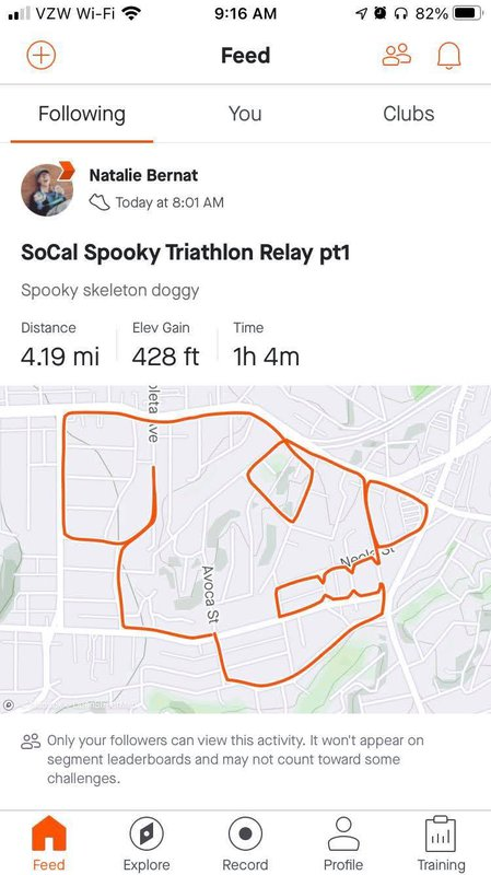 Strava run route outlining a dog skeleton.