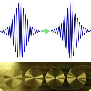 Pulse transformation through ULL waveguide
