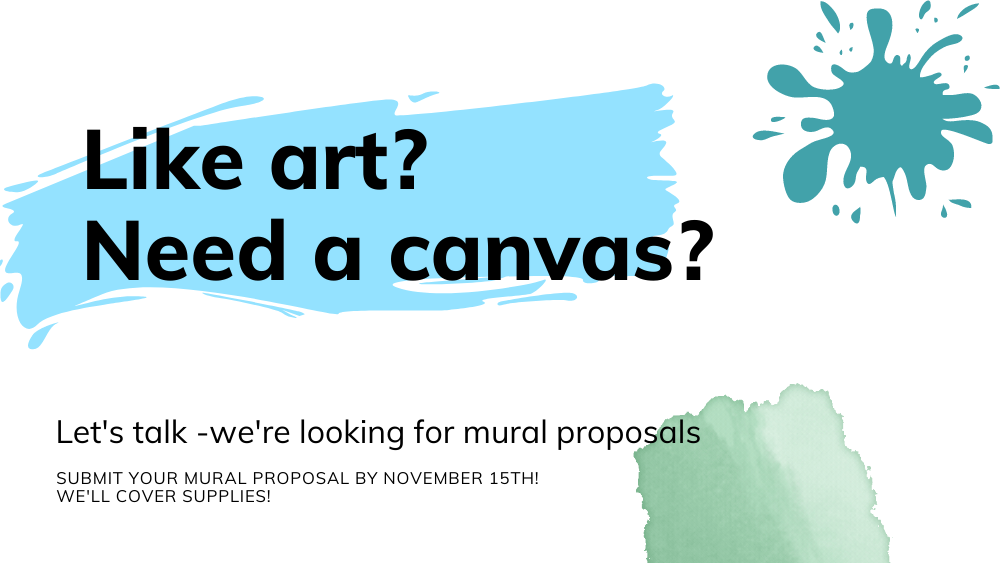 Health is looking for mural proposals - Submit by November 15th