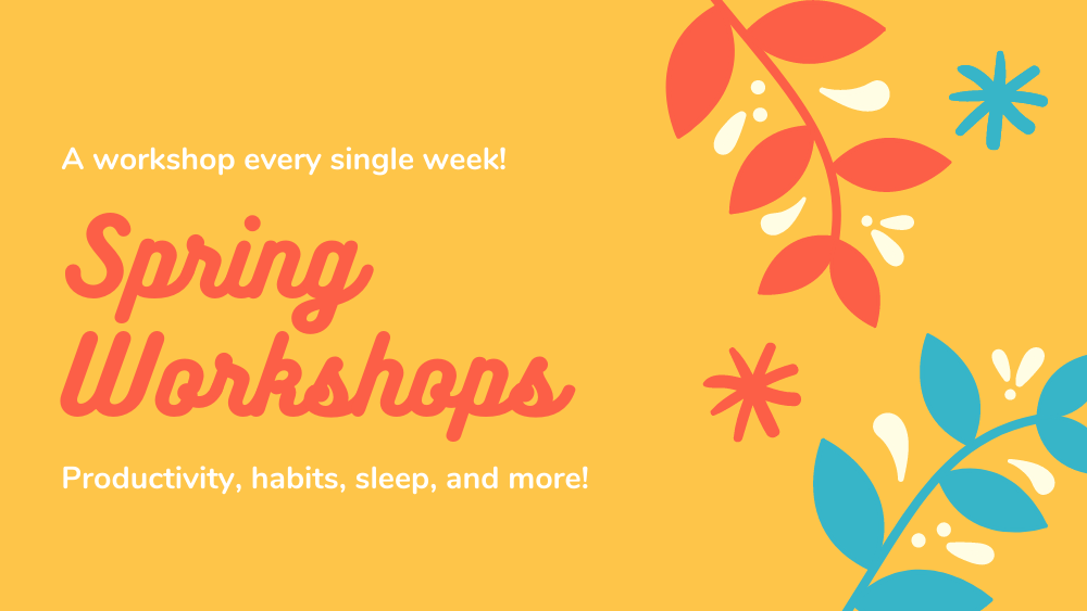 Click to check out Spring 2021 workshops!