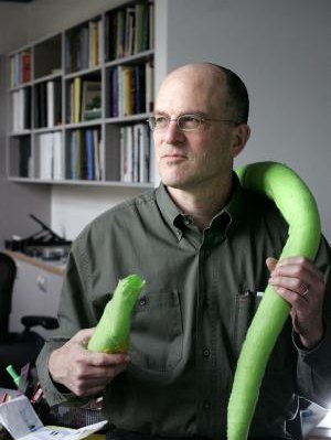 Paul Sternberg with a giant worm