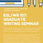 Flyer for ESL 107 course