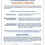 Writing prize flyer